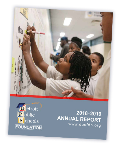Detroit Public Schools Foundation Annual Report 2019 cover