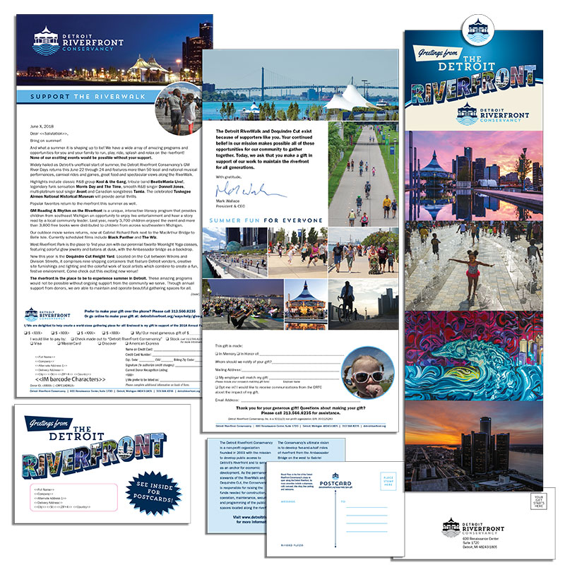 Detroit RiverFront Conservancy Mailing 2018