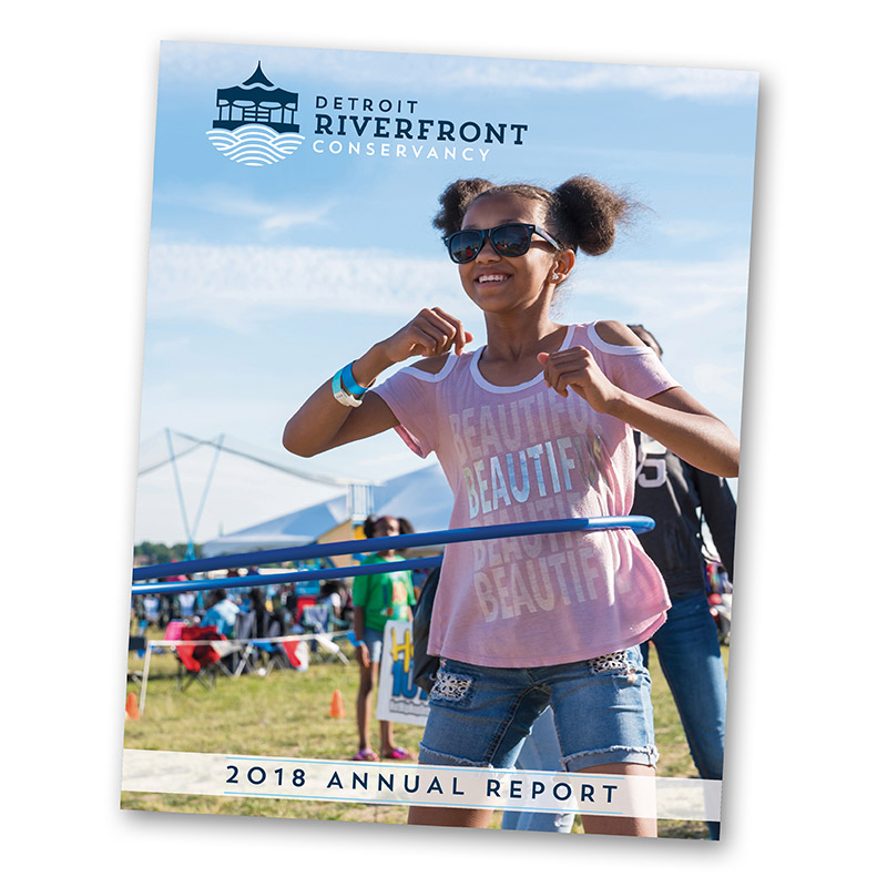 Detroit Riverfront Conservancy 2018 Annual Report Cover8