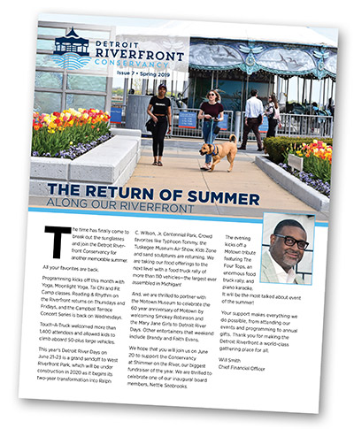 Detroit Riverfront Conservancy Newsletter Featured