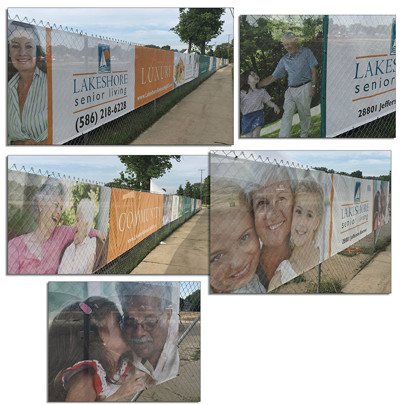 Lakeshore Senior Living Fence Wrap